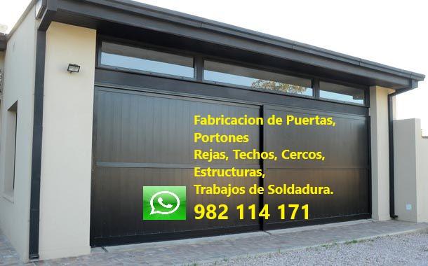 ◁◁Fabricación, Instalación, Reparación, Mantenimiento de Puerta, Porton Métal en Los Olivos, San Martin de Porres