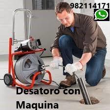 Desatoro, Mantenimiento de Desague con Maquina Eléctrica en San Miguel, Pueblo Libre