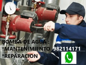 Bomba de Agua Mantenimiento é Instalación en Lima