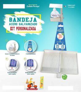 Kit Bandeja Desinfectante Sin Contacto para Edificios, Condominios, Oficinas, Restaurantes, Tiendas, Empresas anti COVID-19, Coronavirus para Protocolo Sanitario de Inicio de Actividades en Lima