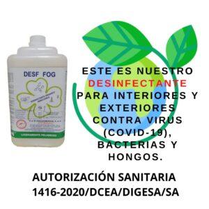 Solución, químico, liquido , desinfectante para equipo Fumigadora, Termonebulizadora, Máquina de humo para eliminar Covid 19, Coronavirus en Lima
